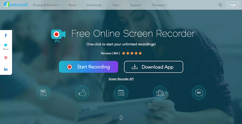 Apowersoft Online Screen Recorder