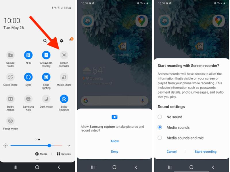 3 Effiziente Methoden zur Bildschirmaufnahme auf Samsung